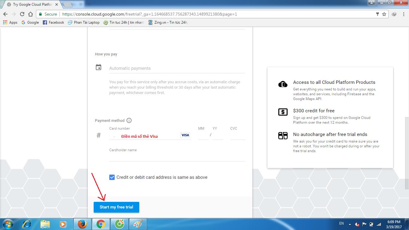 huong dan tao vps google cloud 4 - Hướng dẫn tạo VPS Goolge Cloud miễn phí 300$ 1 năm