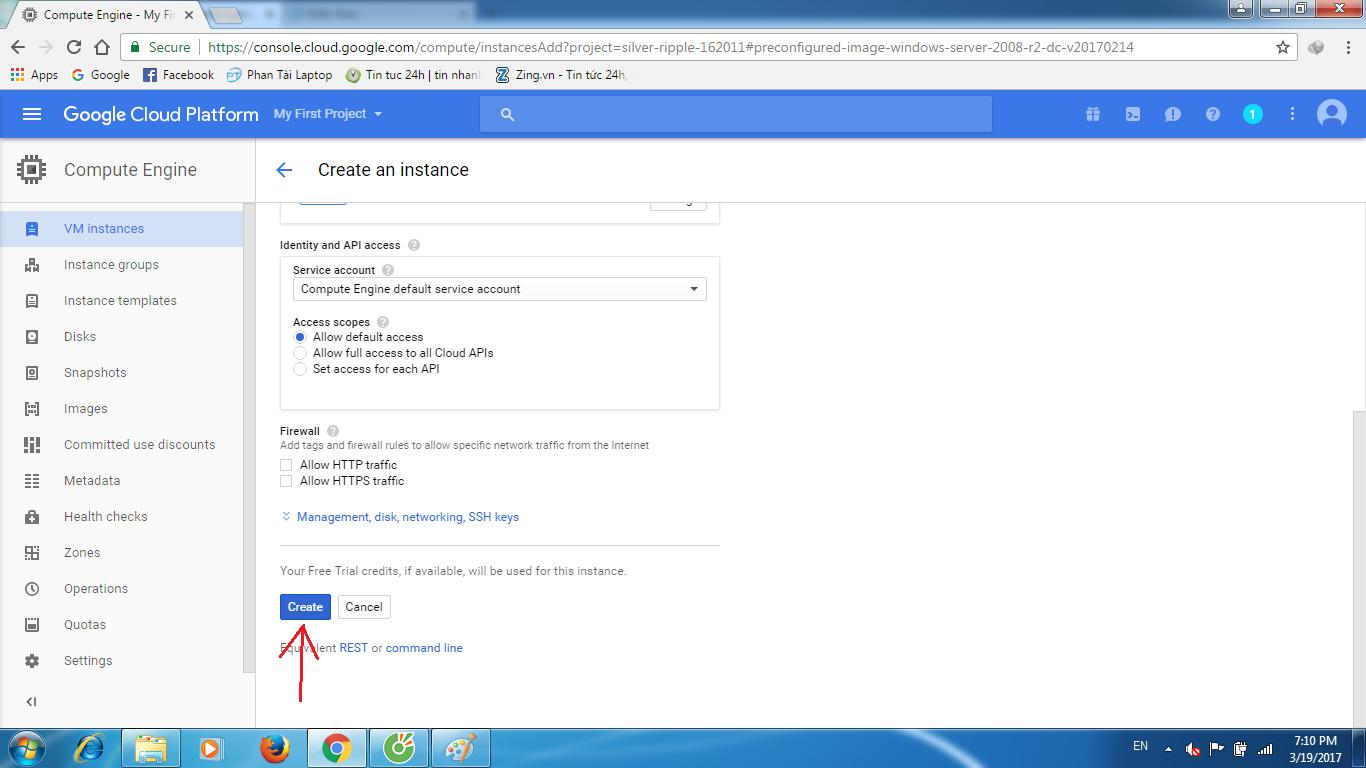 huong dan tao vps google cloud 8 - Hướng dẫn tạo VPS Goolge Cloud miễn phí 300$ 1 năm