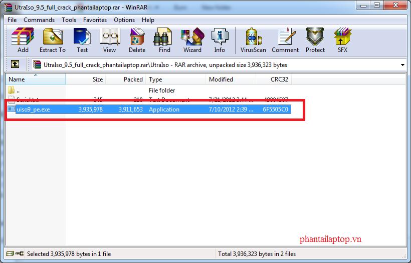 ultraso 9.5 full crack phantailaptop1 - Ultraiso 9.5 Full Crack - Phần mềm tạo ổ ảo chuyên nghiệp nhất