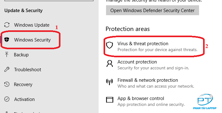 phantailaptop tat windows defender 7 - Fix lỗi operation did not complete successfully because the file contains a virus trên win 10